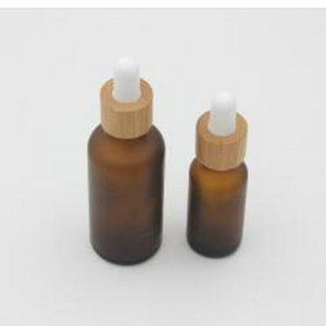 US 322 5 OFFBrown Glass Essential Oil Dropper Bottle With Black Aluminum Cap Refillable Empty Cosmetic Containers Medicine Dropper bde2010 X