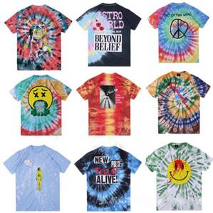 19SS Tie teinture Travis Scott Astroworld tour astronaute T-shirt Souhait vous étiez ici T-shirt Hommes Femmes cactus Hip-Hop t-shirts navire sans S-XL