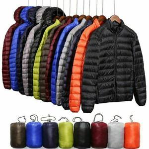 Leggero 90% piumino degli uomini di Cappuccio palla Parka cappotto nuovi cappotti giacche