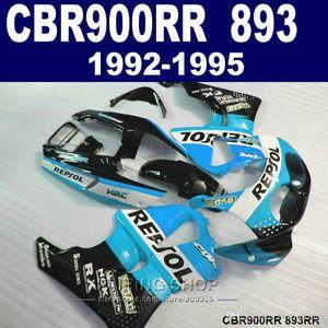 7gifts fairing kit Honda CBR900RR CBR 893 1992-1995 blue white black fairings set CBR 900 RR 09 10 11 MU89