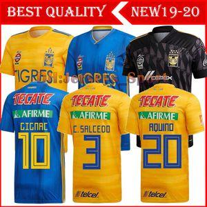 7 Star 19 20 Naul Tigres UANL Soccer Jersey GIGNAC VARGAS Guerrón 2019 2020 Camiseta de Futbol México Tigres DAMIAN Liga MX camisas de futebol