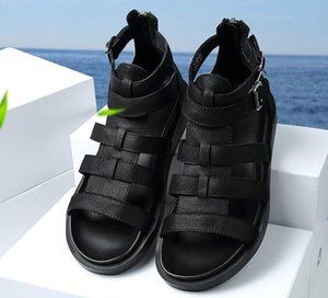 New summer leather sandals for men Men's trendy cowhide sandals with soft soles Cowhide gladiator sandals