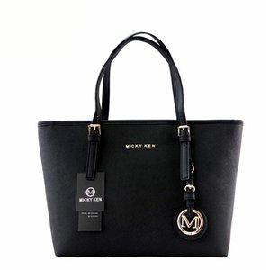 MICKY KEN bolso de las señoras bolso de la moda patrón de crossbody PU bolso de compras de cuero bolso de hombro grande