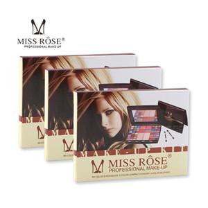New Look Miss Rose 48 colores de maquillaje profesional sombra de ojos paleta de artista colorete compacto de polvo del brillo mate con el cepillo