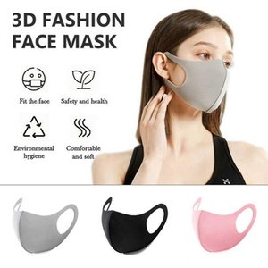 Free DHL Shipping Black Mask Soft Cotton summer Breathing Mask Anti-Dust Earloop Mouth Face Cover Unisex Outdoor Riding Lycra Cotton Mask