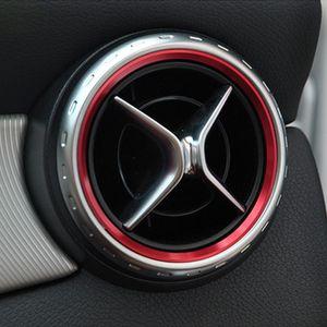 Автомобиль укладка, Кондиционер воздуха Вентиляционное отверстие на выходе кольцо крышки уравновешивания украшение для Mercedes Benz A класса B КЛК GLA180 200 220 260 AMG Аксессуары