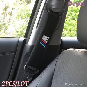 Ceinture de sécurité Couverture pour BMW E70 x5 E82 E92 E93 m3 x1 E87 E46 Seat Cover Ceinture d'épaule Pad Accessoires voiture 2PCS / LOT