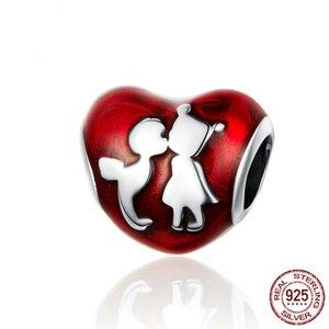 em forma de coração encanto real popular 925 prata infância namorados para o amor presentes caber pulseiras amor punho China jewellry