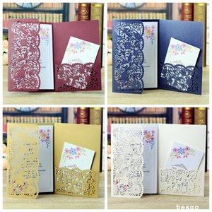 شخصية نمط الزفاف بطاقات دعوة الجوف زهرة الجيب بطاقات معايدة لعيد ميلاد الاشتباك حفل زفاف لوازم DBC BH3109