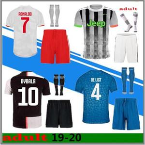 S-2XL 19 20 JUVENTUS jersey de fútbol kit 2018 2019 DE Ligt Dybala HIGUAIN Mandzukic BUFFON RONALDO camiseta de fútbol uniforme