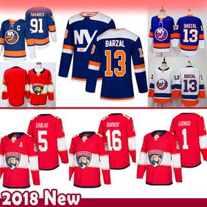 hombres 91 John Tavares 13 Mathew Barzal New York Islanders jerseys del hockey de las panteras de Florida 16 Aleksander Barkov 5 Aaron Ekblad 1 Roberto Luongo