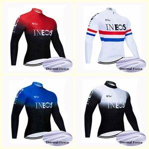 INEOS squadra Maglia Ciclismo inverno Maglia ciclo termico lungo vello maglia ropa ciclismo invernale Maglia ciclismo B617-63