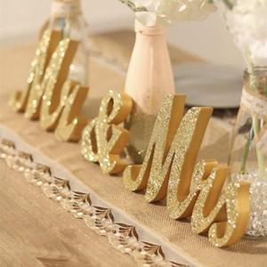 الحسنات عرس الجدول محور الديكور الذهبي بريق السيد السيدة رسالة خشبية الزفاف الزواج الصورة كشك حزب الدعامة