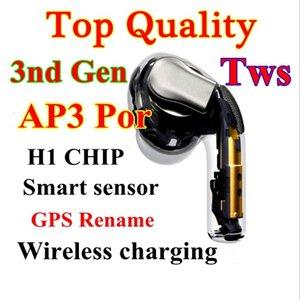 Yeni kablosuz şarj Akıllı sensör kulak kulaklık MWP22AM / bir geçerli seri numarası ile AP3 H1 çip Kulakiçi ABD versiyonu değişim adı Kulaklıklar
