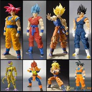 Dragon Ball Z SHF Figuart Goku Vegeta Vegeth Frieza Super Saiyan 3 PVC Action Figure Collection Model Toy con la scatola 13 centimetri DEDR9658