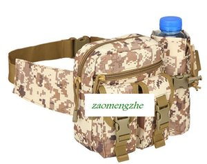 Hot sale Camouflage Outdoor Vertical tactical waist bag multi-purpose Messenger Bag Travel cycling kit sports water cup sets