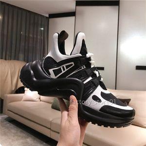 Sapatos De Couro Das Mulheres Dos Homens negros Sapatilhas Bonitas Sapatilhas Casuais Sapatos De Plataforma De Luxo Sapatos De Arco Vestido De Couro Sapatos Botas De Tênis