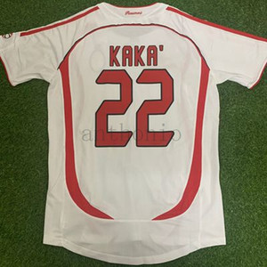 2006 07 RETRO VINTAGE CLASSIC STAR KAKA MALDINI AWAY MAILLOT DE FOOT uniform kits soccer jersey thailand quality 2002 03 football shirts kit