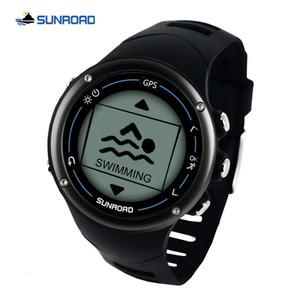 Sunroad GPS reloj digital de los hombres inteligentes corriendo nadada del ritmo cardíaco maratón de triatlón formación brújula SH190929 reloj resistente al agua