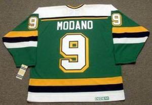 Uomo Donna della Gioventù 2018 personalizzato portiere Cut Mike Modano Minnesota North Stars 1991 Vintage Lontano Hockey Jersey di altissima qualità qualsiasi nome qualsiasi numero