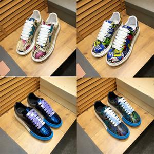 2019 novas Mulheres Homens Plataforma De Couro Sapatos de GrifeLuxo Moda Casual Sapato Branco Preto Vermelho Marinha 3 M Reflexivo Triplo Mens Chaussures Plana