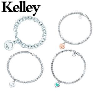 Kelley original de haute qualité Argent 925 Coeur Bracelet pour les femmes Tempérament Mode Couple Bijoux authentique cadeau