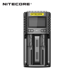 Caricabatterie rapido Nitecore UMS2 a 2 slot con schermo LCD 4000mAh uscita massima ampiamente per quasi tutte le batterie IMR / Li-ion / LiFePO4 vapore vape