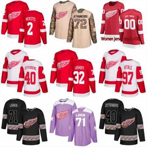 New Season Detroit Red Wings 21 Dennis Cholowski 83 Trevor Daley 65 Danny DeKeyser 52 Jonathan Ericsson 25 Mike Green Hockey Maglie