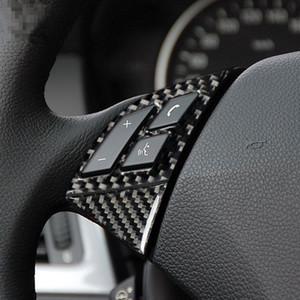 Fibra di carbonio Pulsanti sul volante decorazione cornice disposizione della copertura della per BMW Serie 5 E60 520 525 2005-2010 Accessori auto Interni