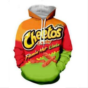 خارج الموضة الشارع الشهير 3D HD طباعة عارضة Cheetos الساخنة هوديس وبلوزات الرجال النساء هوديي سترة معطف LMS014