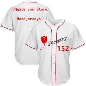 RJ123-152 Baseball Jerseys # 152 Männer Frauen Jugend Kind Erwachsene Dame Personalized Stitched Any Your Own Name Number S-4XL