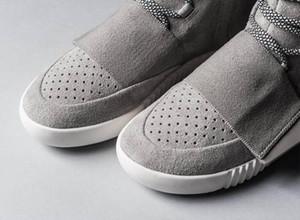 Sıcak satış-ayakkabı Kanye West 750 Boots Erkekler Glow Koyu Açık Gri Üçlü Siyah Yüksek Bilek Spor Ayakkabı kadınlar Sneaker Kaykay Ayakkabı boyutu 36-46