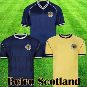 Scotland Retro 1982 Maillot de football équipement Accueil kits bleus 1982 1983 SCOTLAND Retro Maillot De Football dessus