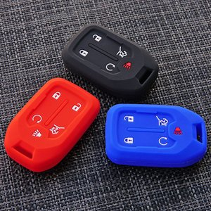 Interior Accessories Key Case for Car Silicone Rubber car key fob cover case protect skin cap set shell hood For GMC 2018