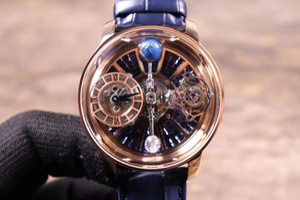 Relojes de batería de cuarzo para hombres Reloj de moda Reloj de cuero de acero inoxidable Reloj de negocios Reloj hombre La pelota NO gira