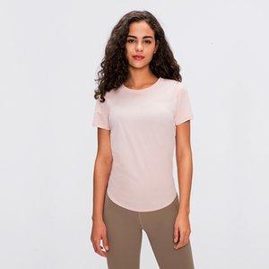 Branded Summer Yoga Short Sleeve T Shirt Female Fitness Running Strap Speed Dry Breathable Loose Blouse