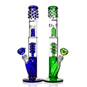 copa pipas de agua protección contra salpicaduras delgado Sarah Bong con percolador espiral de cristal tubería de agua de la gracia de fumar DAB burbujeador plataforma