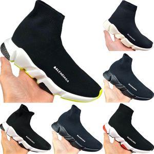 Con la caja 2019 Zapatos velocidad Niños Stretch Knit-top respirable Deportes bolsita original velocidad tope de goma de los niños Formación zapatillas de deporte
