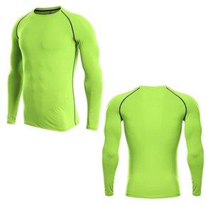 اللياقة البدنية ملابس طويلة الأكمام Muscleguys كمال الاجسام الربيع الخريف جديدة طويلة الأكمام الرجال BranClotd رياضة