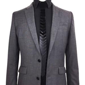 패션 아크릴 STRIPED 광택 블랙 넥타이 SLIM의 럭셔리 HEX TIE FLORAL CRAVATE MEN 액세서리 웨딩 사업 파티 형식 드레스