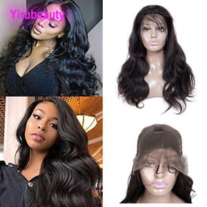 Braizlian Virgin Hair 13x4 Lace Front Wigs vague de corps avec bébé Couleur des cheveux naturels 13 * 4 Les perruques 100% cheveux humains