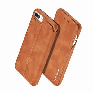 Etui en cuir de luxe pour iPhone 8 Flip Wallet Case Cover iPhone 8 Plus Coque Logement de haute qualité cas de téléphone pour iPhone 8 Plus i