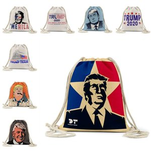 DHL shipping Unisex Drawstring Backpack Make America Great Again Donald Trump Bag Printing String Bags for Sport Training Sackpack L328FA