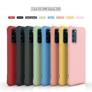 Caso TPU Magro à prova de choque macio para Samsung Galaxy S20 Ultra A51 A71 A30 A50 A70 S10E S10 J4 J6 PLUS telefone tampa traseira reservados Strap Buraco