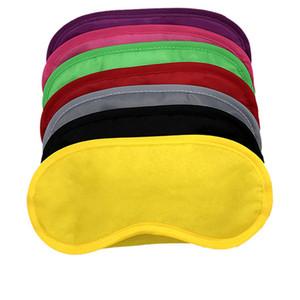 Schwarz Augenmaske Polyester Sponge Weich 4 Ebenen Farbton-Haar-Abdeckungs-mit verbundenen Augen Blackout Schlaf eyeshade Maske für Sleeping Reisen RRA2487