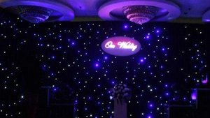 3x6 Meters Led Star Curtain Led Star Cloth Dj Effect Wedding Backdrop With Contoller