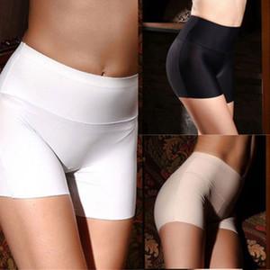 Nouveau femmes coton doux sans soudure sécurité taille haute pantalon court vente chaude été femme sous jupe shorts respirant collants