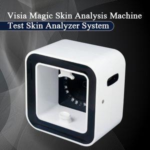 2019 mais novo Analyzer pele Tecnologia Visia Magic Mirror com análise de pele madeiras Lamp