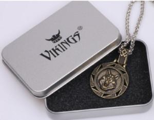 Acero inoxidable joyería de la cadena amuleto eslava de accesorios de Viking Lobo protección del collar colgante de novia novio marido esposa