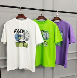 20SS ADER SEMIOVERSIZED TOP Tee Alien Printed Men and Women Couples Casual Short Sleeves High Street Fashion T-Shirt Summer Tee
